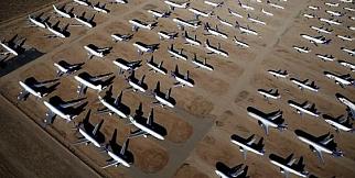 Dünyanın en büyük uçak mezarlığı California'da