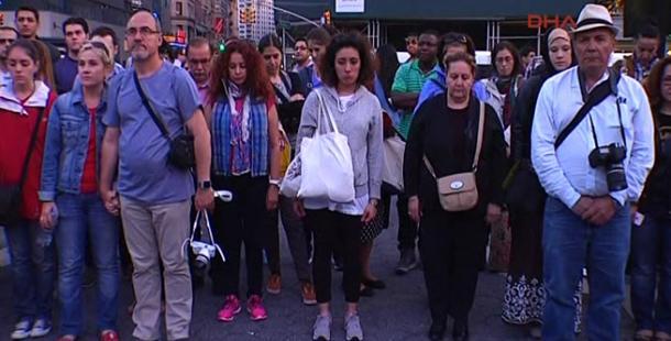 New York'ta Soma için saygı duruşu