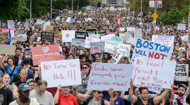 Boston'da Irkçılık Karşıtı Gösteriler