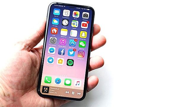 Iphone 8 de 3D yüz tarama sistemi