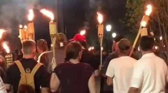 Torch-wielding white nationalists march on University of Virginia ahead of massive rally