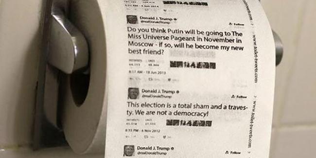 Trump'ın twetleri tuvalet kağıdı oldu