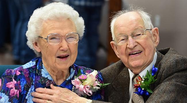 75 yıldır evli olan Irma ve Harvey'nin kasırga şaşkınlığı