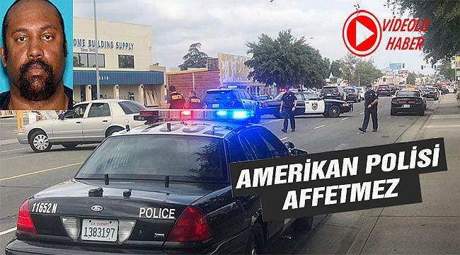 ABD Polisi Şüpheliyi Böyle Vurdu