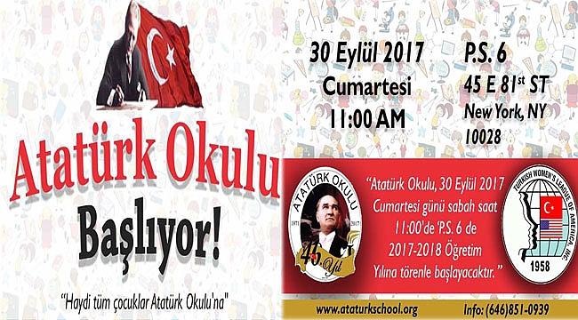 Atatürk Okulu Eğitime Başlıyor