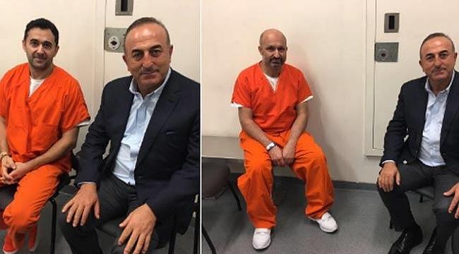 Çavuşoğlu ABD'de Tutuklu 2 Türk'ü Ziyaret Etti