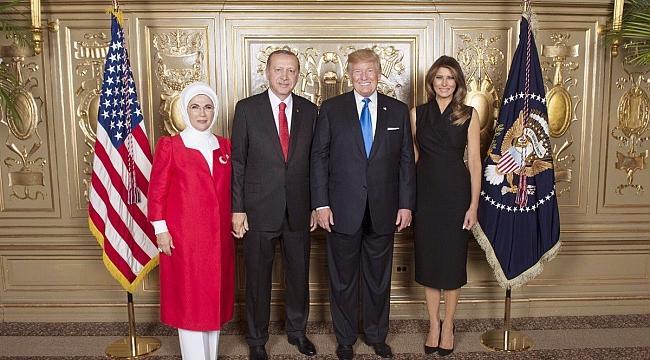 Erdoğan ve Trump Ailesi BM Resepsiyonunda