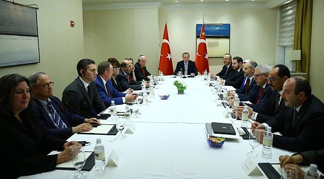 Erdoğan Yahudi Kuruluş Temsilcileri ile Görüştü