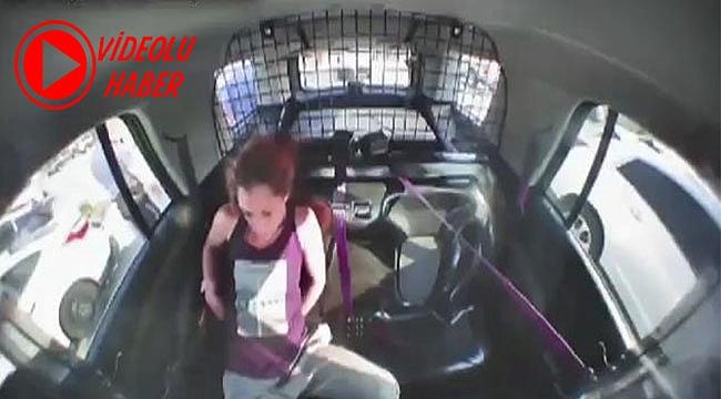 Kelepçelerden Kurtulup Polis Aracını Çaldı