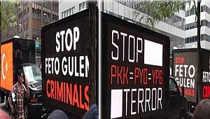 New York Sokaklarında Gezici Terör Protestosu