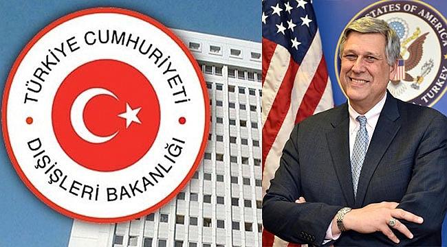 ABD'nin büyükelçilik müsteşarı Dışişleri'ne çağrıldı