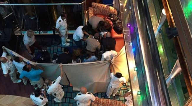 Girl dies after falling from cruise ship's interior deck to one below in Miami