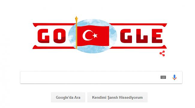 Google'da Türk Bayrağı Doodle