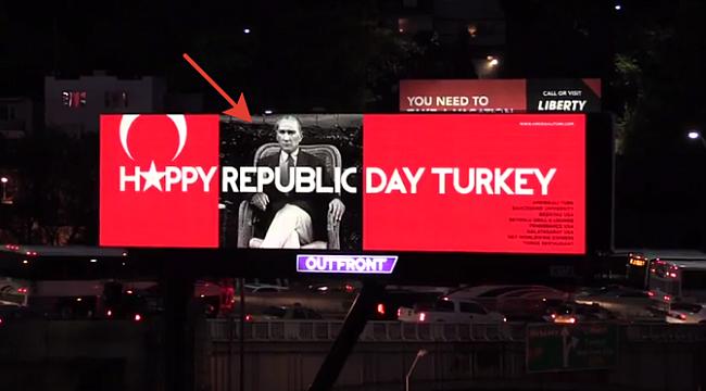 Lincoln Tünel Girişinde Türk Bayrağı