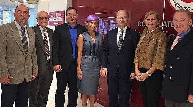 Miami Türk Ticaret Odası Başkonsolos Ceylan'ı ziyaret etti