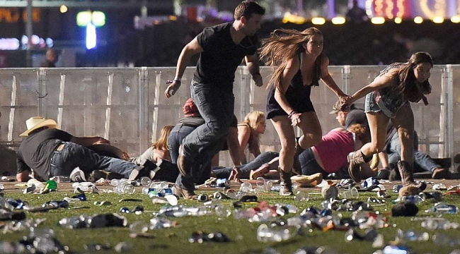 Newly released police bodycam footage shows chaos of Las Vegas massacre