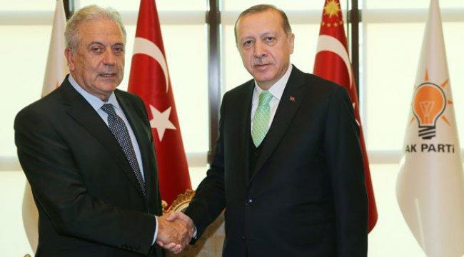 Cumhurbaşkanı Erdoğan, Avramopulos'u kabul etti