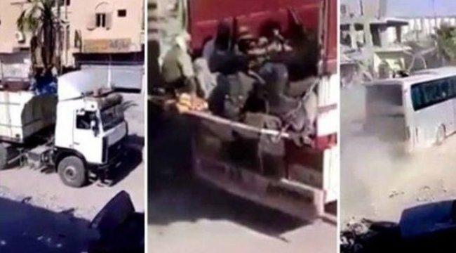 DEAŞ'lı teröristler ABD-YPG korumasında böyle tahliye edilmiş...