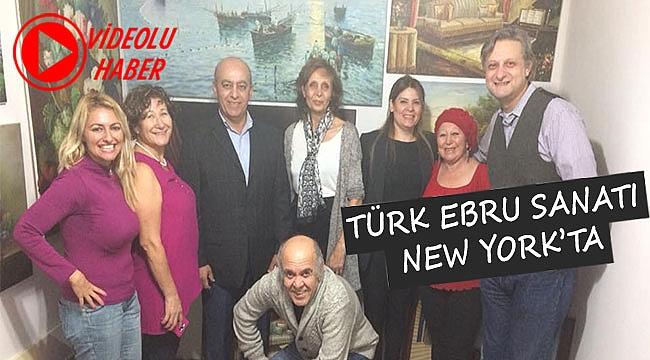Hümeyra Etike New York'ta Ebru Sergisi Açtı