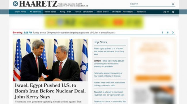 Kerry: İsrail ve Mısır, ABD'yi İran'ı bombalamaya zorladı