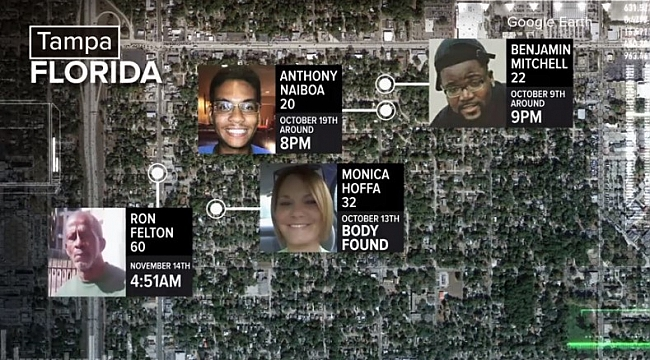 Man arrested in connection with string of murders in Tampa