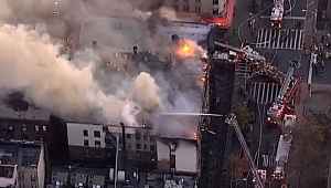 Manhattan'da Korkutan Yangın CANLI