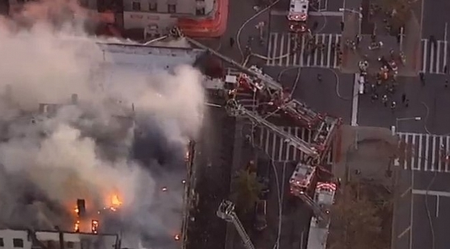 Massive fire rips through New York apartment in Hamilton Heights