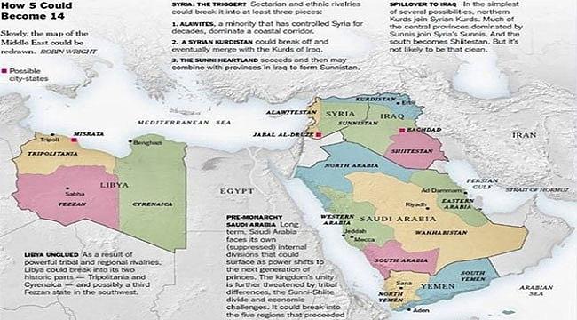 Ortadoğu'da 5 Devletten 14 Devlet çıkardılar