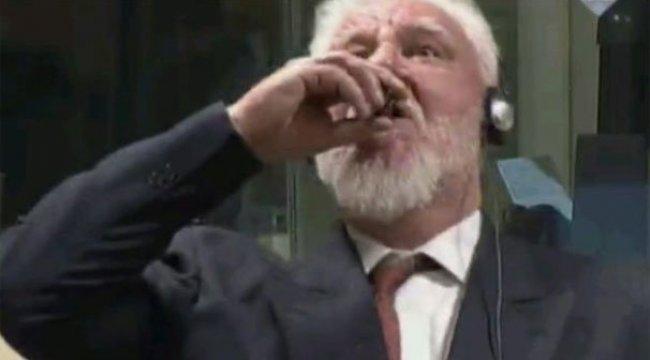 Son dakika: Hırvat general mahkemede zehir içerek öldü!