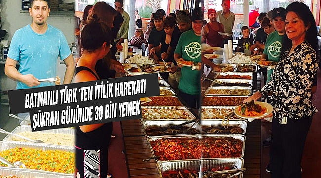Şükran Günü 30 bin kişiye Bedava Yemek