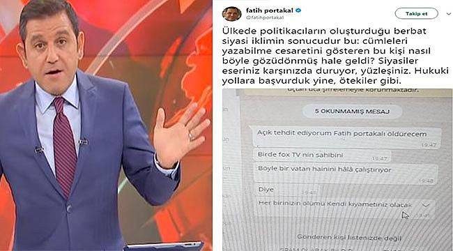 Fatih Portakal'a Whatsapp'tan Ölüm Tehdidi