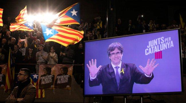 Firari Katalan lider Puigdemont, seçim kampanyasına hız verdi