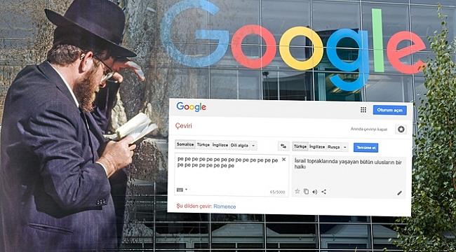 Google'da Kafa Karıştıran İsrail Tercümesi