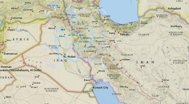 İran - Irak sınırında 5.4 büyüklüğünde deprem