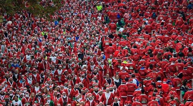 Madrid'de Noel Baba koşusu