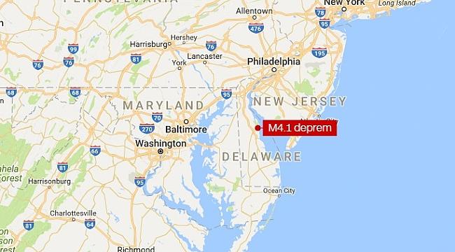 New Jersey'de Deprem