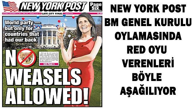 New York Post'tan 2. Çirkin Manşet