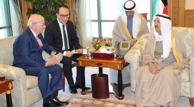 TBMM Başkanı Kahraman, Kuveyt Emiri ŞeyhSabah tarafından kabul edildi