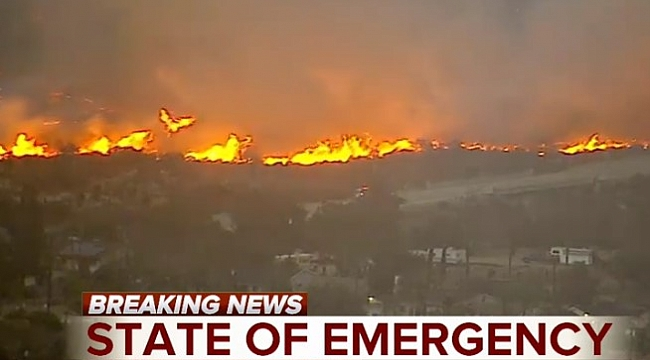 Wildfire threatens several thousand homes in Southern California