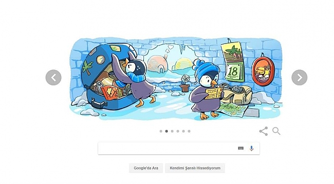 Google'dan Yeni Yıl için Doodle