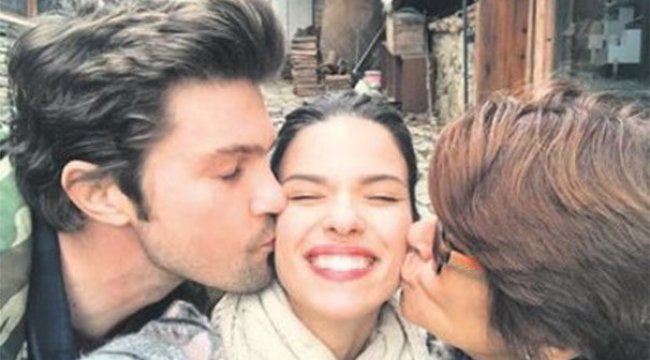 Larissa Gacemer'e öpücük yağmuru