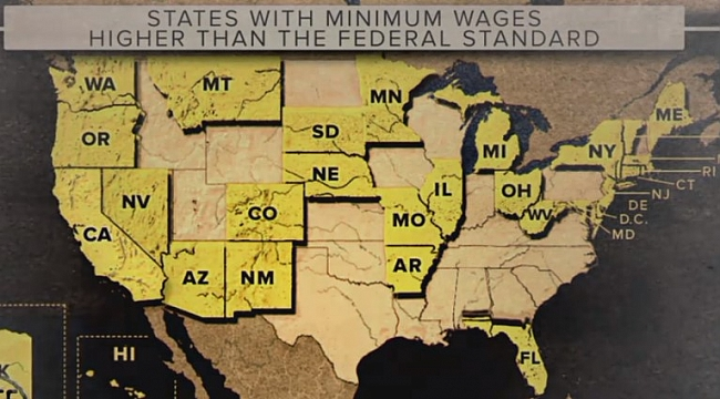 Minimum wage rising in more than 3 dozen states and cities in 2018