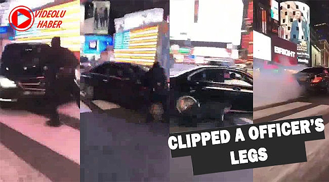 Reckless Manhattan driver clips cop's legs while fleeing