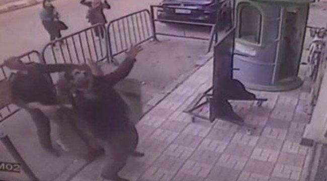 Üçüncü kattan düşen çocuğu havada yakaladı
