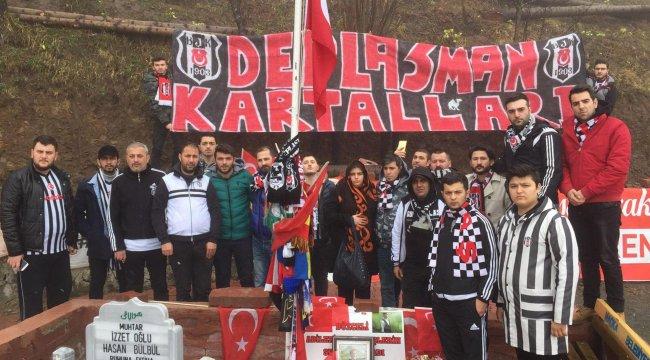 Beşiktaşlı taraftarlar Eren Bülbül'ün mezarını ziyaret etti