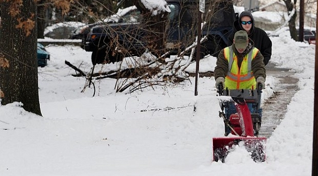 Hey N.J. neighbor with the snowblower, you're the real MVP in this weather