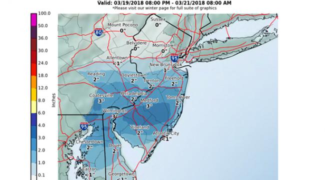 Kar Yağışı, New Jersey'e Geri Dönüyor