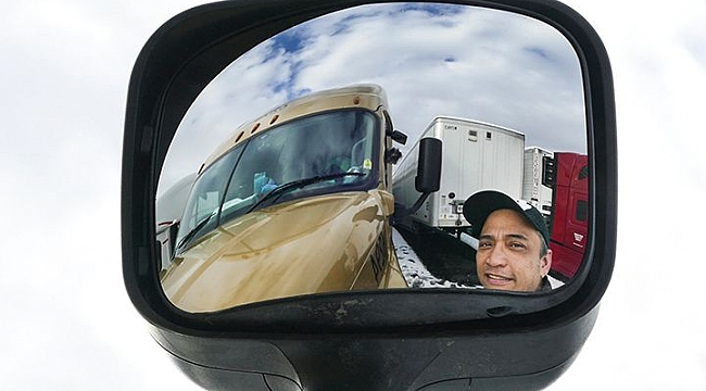 Long haul truckers take nor'easter in stride