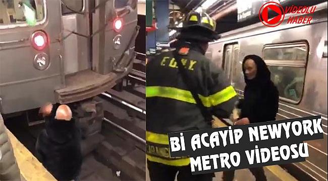 New York Metro Rayında Alem yapıyordu