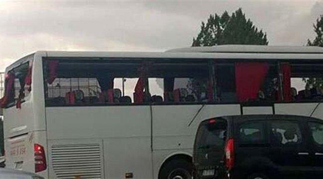 Sarıyer otobüsüne Diyarbakır'da taşlı saldırı